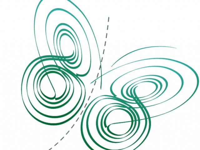 logo of butterfly from mathematical equation
